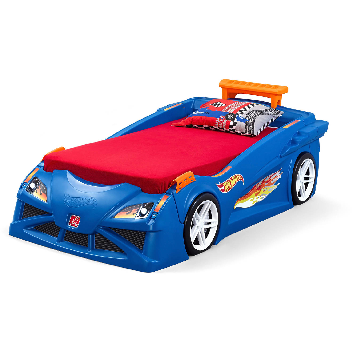 Step2 Blue Hot Wheels Toddler Race Car Bed And Dresser