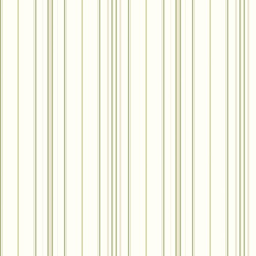 Cool Kids Wide Pinstripe Wallpaper, White/Blue