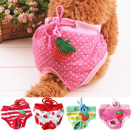 Heepo Female Pet Dog Puppy Diaper Pants Physiological Sanitary Short Panty Nappy Underwear M/L/XL - Female Pet