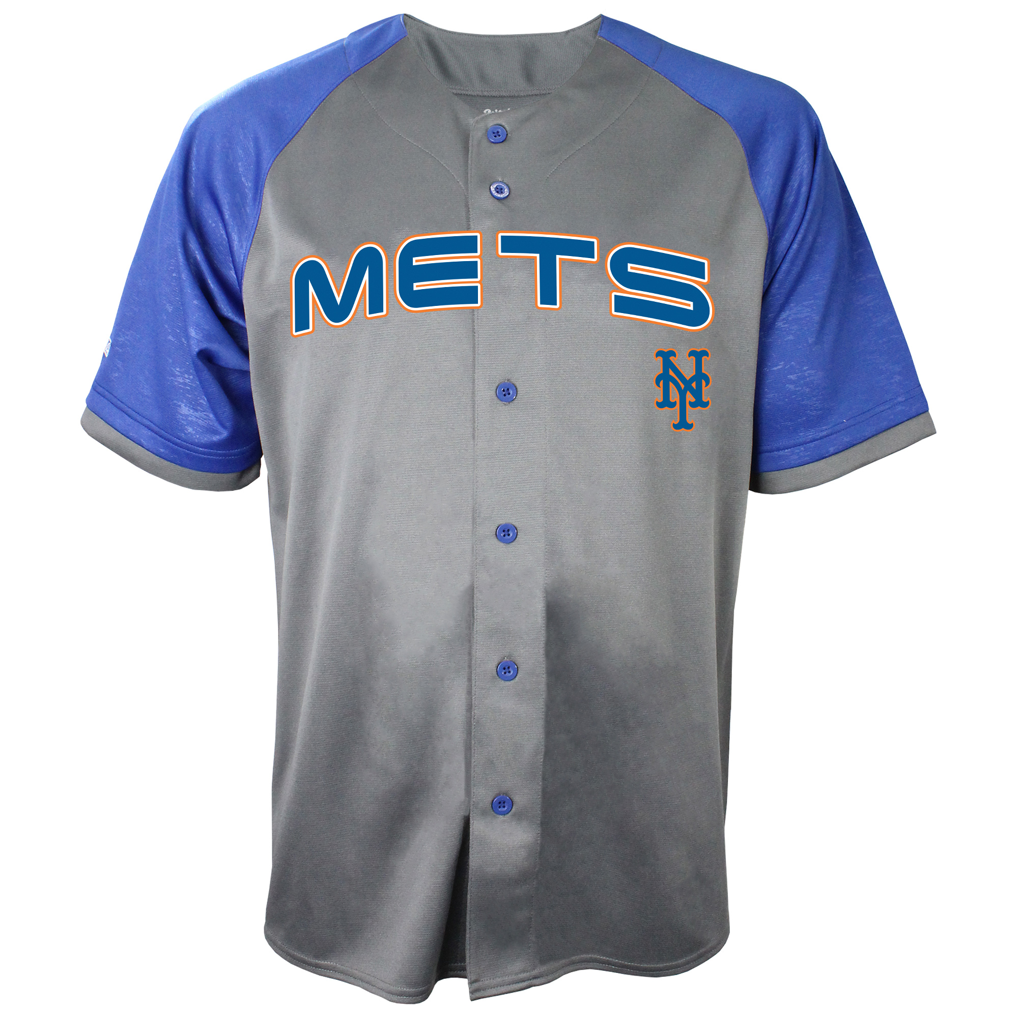 New York Mets Stitches Glitch Jersey - Charcoal/Royal