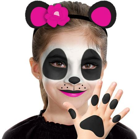Ninja Makeup Halloween Kids (Almar Sales Company INC Panda Makeup Kit for Kids, Halloween Makeup, 8)