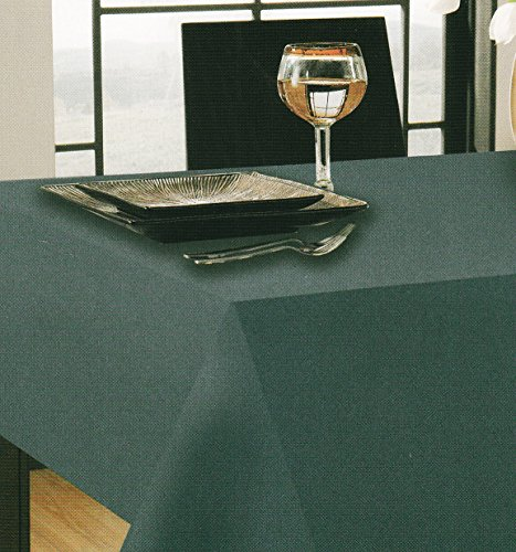 Blue Tuscan Laminated Solid Fabric Tablecloth (70 Round)