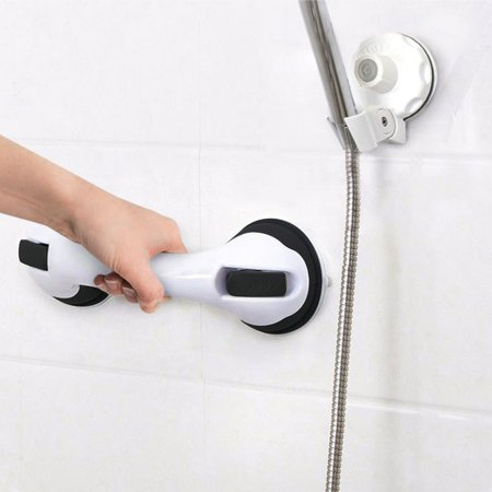 Eutuxia Shower Suction Cup Handle Grip and Shower Head Holder Bundle. Perfect for Safety in Showers & Bathtubs. Anti-Slip, Easy Setup and Reachability for Elderly, Children, Handicapped, and Seniors. ()