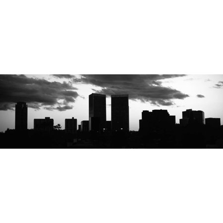 Silhouette of Skyscrapers in a City, Century City, City of Los Angeles, Los Angeles County Print Wall Art By Panoramic