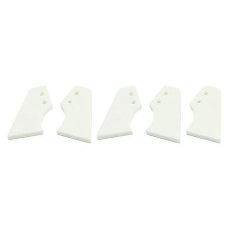Unique Bargains 5pcs DIY RC Model Parts 22 x 12 x 2mm Nylon Control Horns White - Diy Maleficent Horns