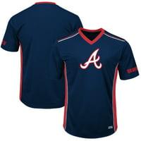 Men's Majestic Navy/Red Atlanta Braves Big & Tall Memorable Moments T-Shirt