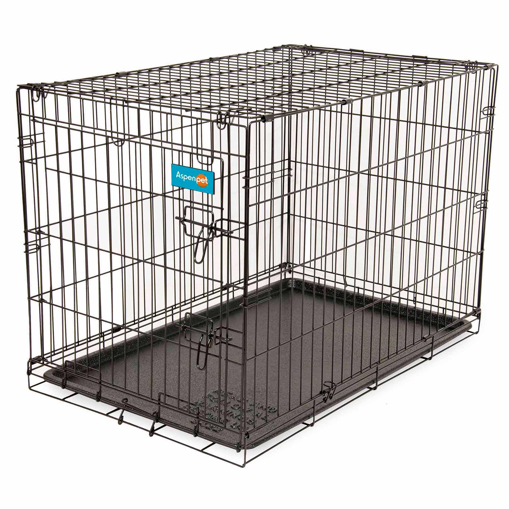 dog crates carriers  kennels  walmartcom - aspen pet home training  wire kennel  lbs