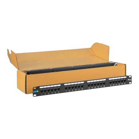 Icc ICMPP2460V Patch Panel, Cat 6, 24-port, 1 Rms, 6 Pk