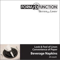 """Club Pack of 288 Form & Function White Airlaid Catering Beverage Napkins 5"""""""