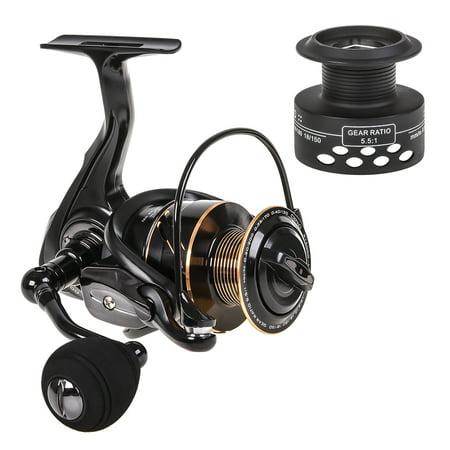 Spinning Fishing Reel 13BB + 1 Bearing Balls Metal Spinning Reel Boat Rock Fishing Wheel with with Extra