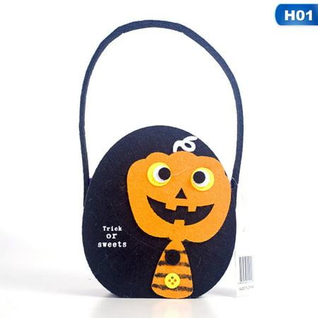 Halloween Treat Basket Ideas (AkoaDa New Halloween Decoration Felt Helloween Candy Bags Basket Halloween Party Decoration Storage Bags Helloween Decorations for)
