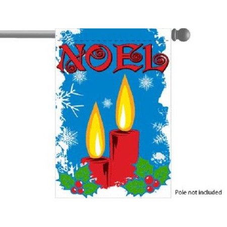 Noel Christmas Candles GARDEN HOUSE BANNER/FLAG 28