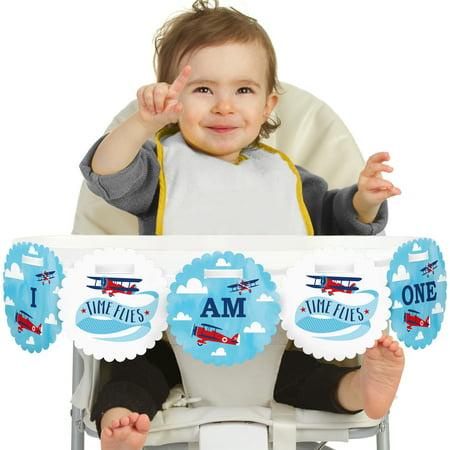Atm Banner (Taking Flight - Airplane - I Am One - First Birthday High Chair Birthday Banner)