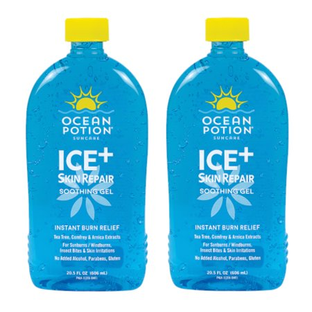 2 Pack Ocean Potion Ice Skin Repair Aloe Vera Cooling Gel 20.5 Fl Oz Each