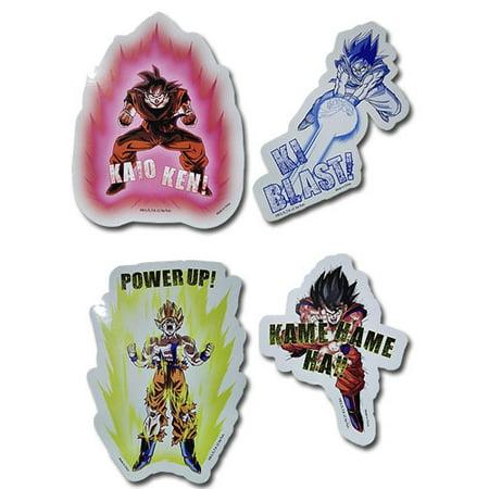 Sticker - Dragon Ball Z - New Goku Attack Set Toy Licensed ge55429 (Goku Vinyl Sticker)
