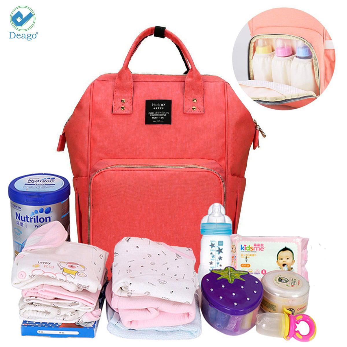 Deago Waterproof Backpack Mummy Bag Baby Water Feeding Bottle Portable Diaper Bag Computer Large Capacity Bag... by Deago