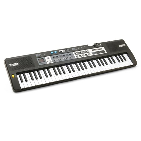 Plixio 61 Key Mid-Size Electric Piano Keyboard with Electronic Music Lesson Mode & - Halloween Themed Music Lessons