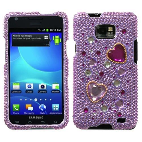 Insten Love Crash Diamante Phone Case for SAMSUNG: I777 (Galaxy S II)