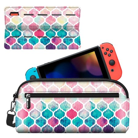 Fintie Nintendo Switch Carrying Travel Case/Cover with 10 Cartridge Holders, Moroccan Love - image 7 of 7