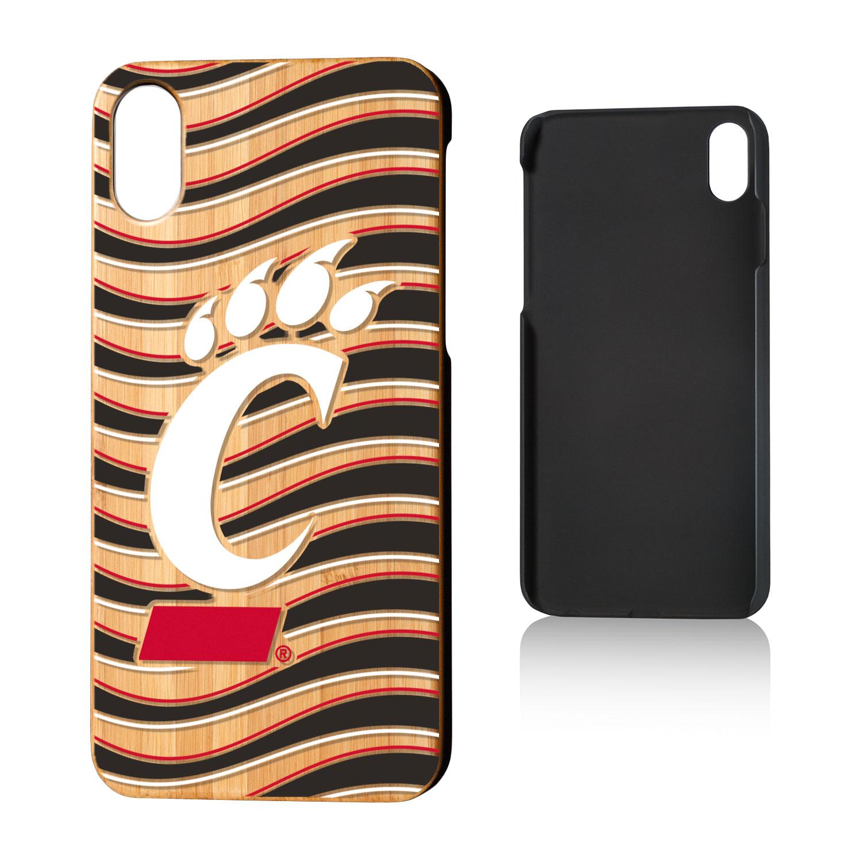 UC Cincinnati Bearcats Wave Bamboo Case for iPhone X