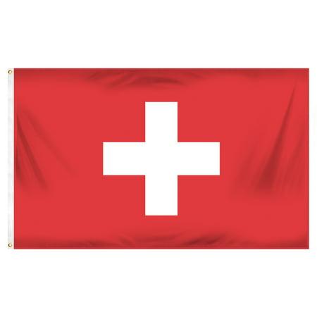 Switzerland 3ft x 5ft Printed Polyester Flag