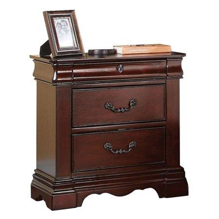 Acme Furniture Estrella 3 Drawer Nightstand Acme Furniture Bedroom Nightstand