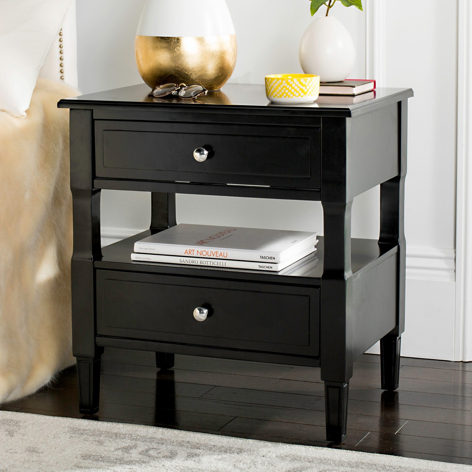 Safavieh Jenson 2-Drawer Nightstand, Multiple Colors