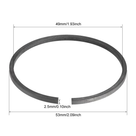 Air Compressor Replacement 53mm Outer Diameter Piston Rings 1Set - image 3 of 4