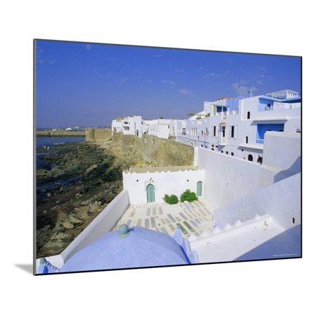 Asilah, Atlantic Coast, Morocco, Africa Wood Mounted Print Wall Art By Bruno Morandi