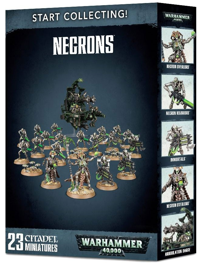 Warhammer 40,000 Start Collecting! Necrons Miniatures [23 Models] by