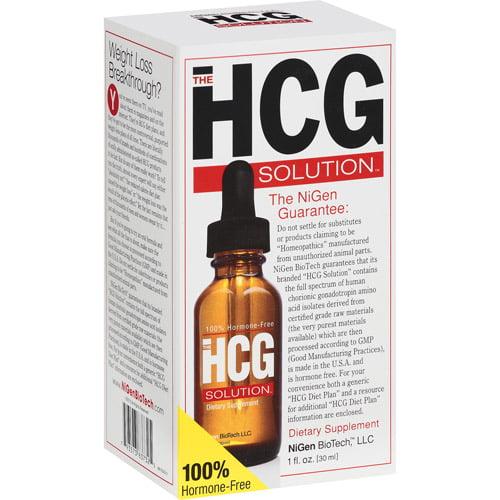 NiGen BioTech HCG Solution 100% Hormone-Free Dietary Supplement, 1 oz
