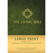 The Living Bible Large Print Red Letter Edition (Red Letter, Hardcover, Green)