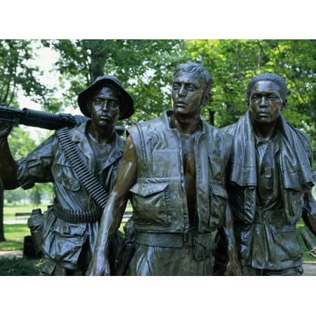 Close-Up of Statues on the Vietnam Veterans Memorial in Washington D.C., USA Print Wall Art By Hodson (Jonathan Farrow)