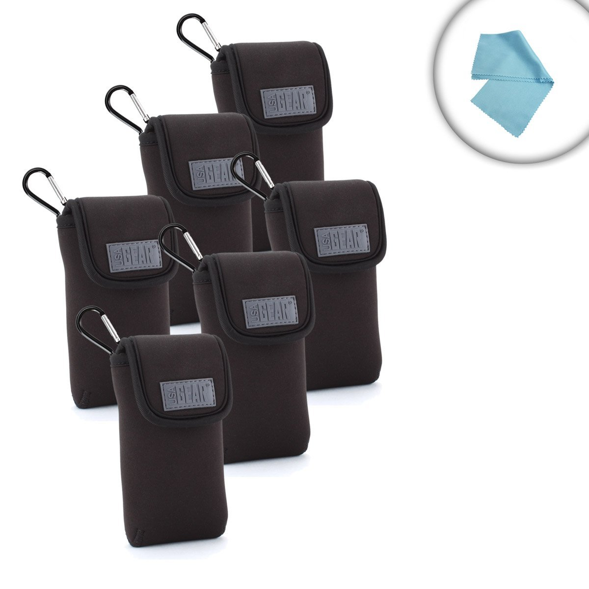 Scratch Resistant 6 Pack Portable Radio Carrying Covers w...