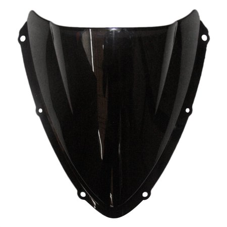 GZYF Smoke Tinted Motorcycle Windscreen Windshield for Suzuki GSXR 600 750 K8 2008 2009 2010 Black Double Bubble (2018 Gsxr 600 Windscreen)