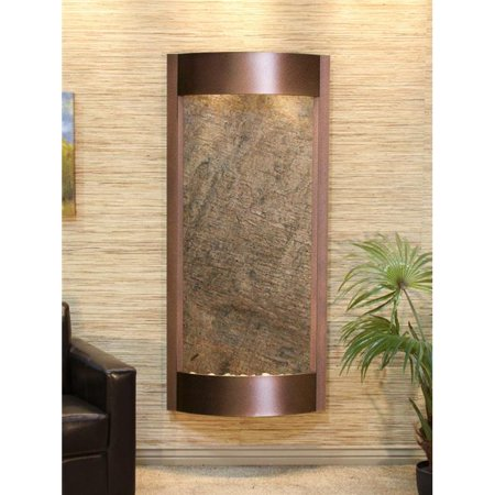 Adagio Water Fountains - Adagio PWA5012 Pacifica Waters Copper Vein Green Featherstone Wall Fountain