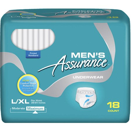 Assurance Incontinence Underwear For Men  Maximum  L Xl  18 Ct