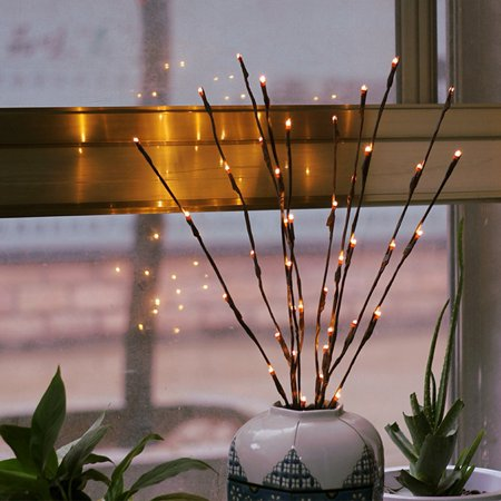 Warm LED Willow Branch Lamp Floral Lights Can Put In Vase Desk