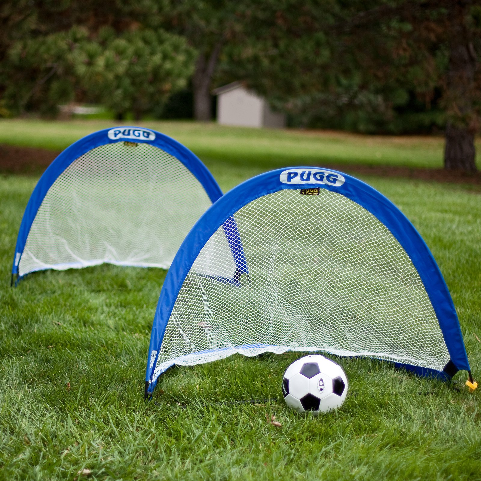 PUGG Classic 4 Foot Pop Up Soccer Goal Pair (Includes set of 2 goals and Carry Bag)