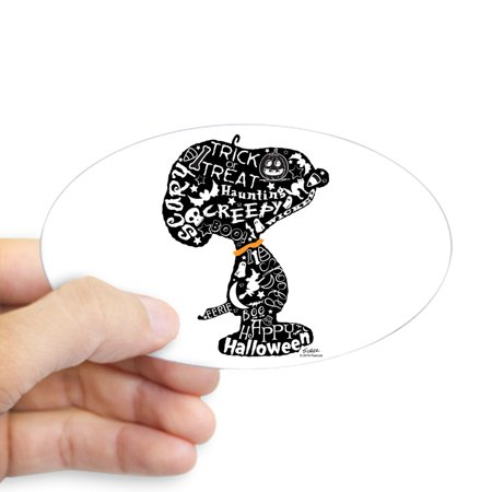 CafePress - Halloween Snoopy Collage - Sticker (Oval) - Easy Diy Halloween Costumes College