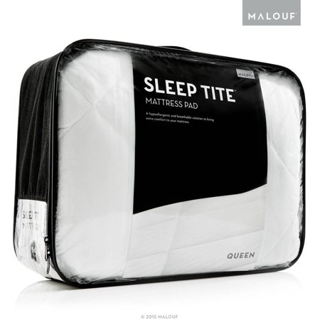 Sleep Tite Quilted Mattress Pad, Filled with Gelled Microfiber Cotton Quilted Mattress Protector