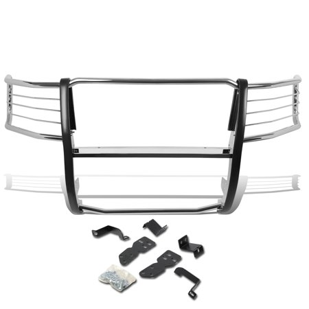 For 2007 to 2013 Chevy Silverado 1500 Front Bumper Protector Brush Grille Guard (Chrome) 08 09 10 11 (Chrome Brush Guard For Chevy Silverado 1500)