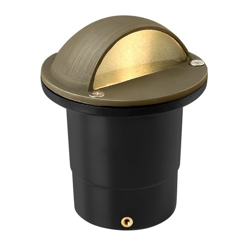 "Hinkley Lighting 16707 12v 20w Solid Brass 4"" Diameter Landscape Dome Top Well Light from the Hardy Island Collection"