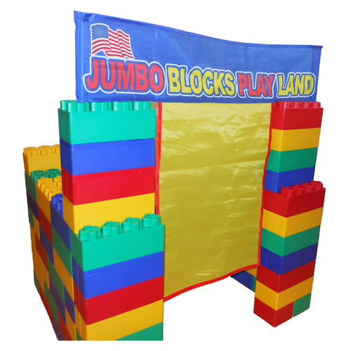 Jumbo Blocks Playhouse 99-Piece Play Set by Serec Entertainment, LLC.
