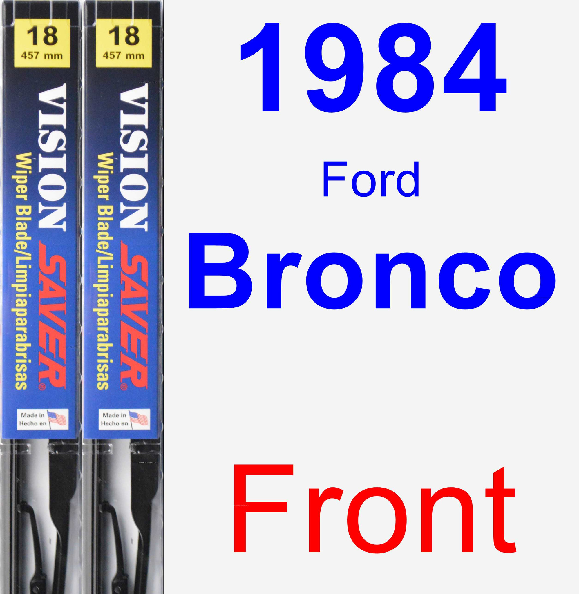 Product Image  Ford Bronco Wiper Blade Set Kit Front  Blades