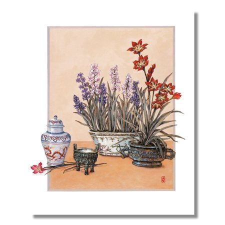 - Japanese Lily Flower and Floral Arrangements #2 Wall Picture 8x10 Art Print
