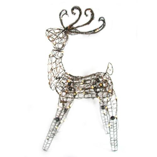 Brite Star 105 Light Multi Posing Grapevine Deer Sculpture Christmas Decoration