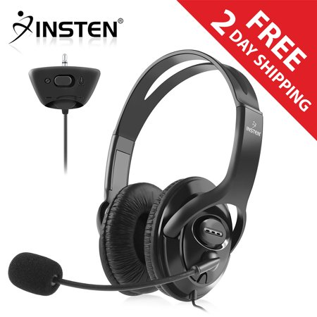 Insten Gaming Headset Headphone with Microphone For MicroSoft xBox 360 Black (Live Chat Mic) Xbox 360 Live Vision Camera