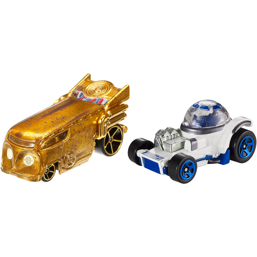 Hot Wheels Star Wars Character Car 2-Pack, C-3PO and R2-D2