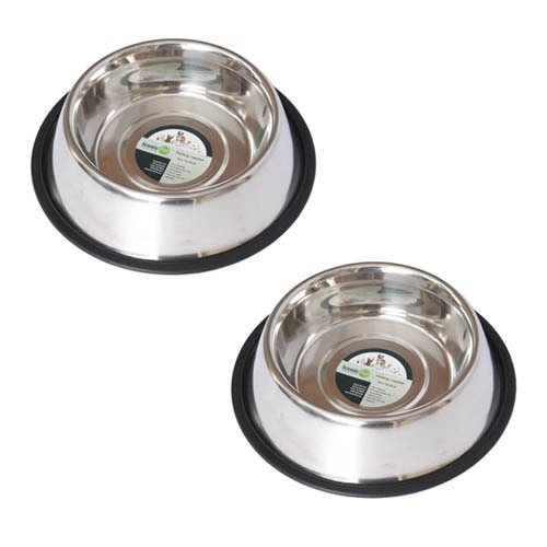 2-Pack Stainless Steel Non-Skid Pet Bowl For Dog or Cat, 24 Oz, 3 Cup + Dogs Bowls en VeoyCompro.net